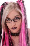 Sexy Goth Nerd. Sexy Gothic girl Stock Image