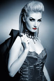 Sexy gothic woman. With creative hairstyle Stock Image