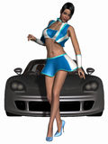 Sexy Grid Girl and Hot Car Royalty Free Stock Image