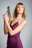 Sexy Gun Girl Stock Photo