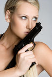 Sexy Gun Girl Royalty Free Stock Photos