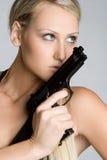 Gun Girl Royalty Free Stock Photos