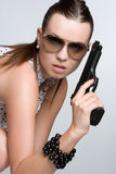 Sexy Gun Girl Stock Photos