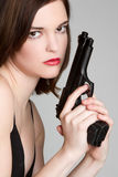 Sexy Gun Girl Royalty Free Stock Photography
