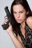 Sexy Gun Girl Stock Photography