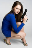 Gun Woman Royalty Free Stock Images
