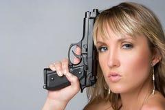 Sexy Gun Woman Stock Photography
