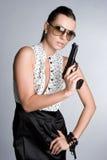 Sexy Gun Woman Stock Photo