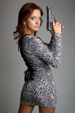 Sexy Gun Woman Royalty Free Stock Photo