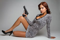 Sexy Gun Woman Stock Photos