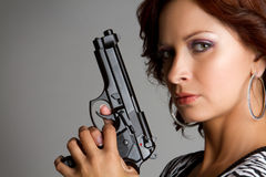 Sexy Gun Woman Royalty Free Stock Image