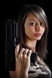 Sexy Gun Woman Royalty Free Stock Photos