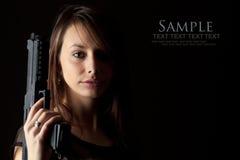 Gun Woman Royalty Free Stock Images