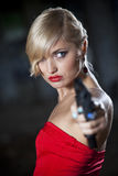 Sexy gun woman Royalty Free Stock Photos