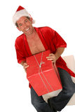 Sexy guy with holiday gift Royalty Free Stock Images