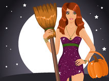 Sexy Halloween witch Royalty Free Stock Image