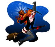 Sexy Halloween witch Stock Images