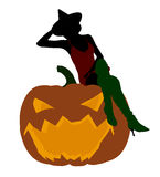 Halloween Witch Art Illustration Silhouette Royalty Free Stock Image