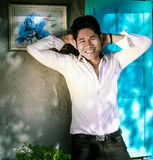 Sexy Handsome Asian Man Relaxing Royalty Free Stock Images
