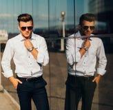 Sexy handsome man Stock Photos