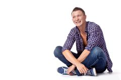 Sexy handsome man posing in casual wear Royalty Free Stock Photos