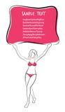 Sexy and Healthy Bikini Girl Full-body Pose in Bikini. Stock Photo