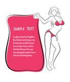 Sexy and Healthy Bikini Girl Full-body Pose in Bikini. Royalty Free Stock Photography