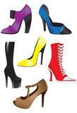 Sexy Heels. An illustration of a set of sexy heels Stock Photos