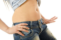 hip with piercing Stock Photo