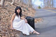 Sexy Hispanic female model posing in dress Royalty Free Stock Photography