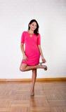 Sexy hispanic woman problem with heel Royalty Free Stock Photos