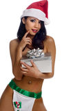 Sexy holiday costume Royalty Free Stock Photos
