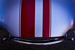 hood of a classic sports car Royalty Free Stock Image