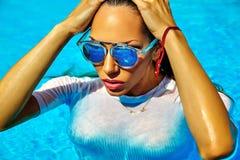 Sexy hot model in bikini on beach swimwear Royalty Free Stock Photography