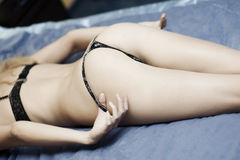 Sexy hot young woman ass in lingerie Royalty Free Stock Photo