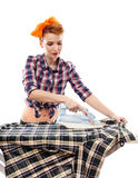 Sexy housewife ironing Royalty Free Stock Photo