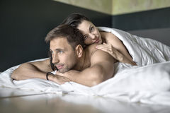 Sexy hugging couple Stock Photography