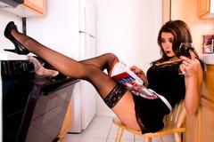 Sexy huisvrouw. royalty-vrije stock foto's
