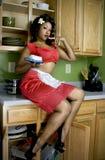 Sexy huisvrouw Stock Foto's