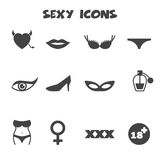 Sexy icons Royalty Free Stock Photos