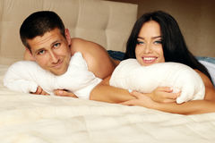 Sexy impassioned couple Stock Images
