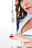 Sexy injection Royalty Free Stock Photography