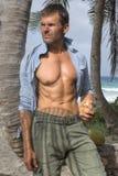 Sexy island castaway Stock Photo