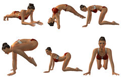 Sexy Joga Poses. 3D Render of Sexy Joga Poses Royalty Free Stock Photography
