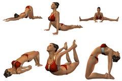 Sexy Joga stelt Royalty-vrije Stock Fotografie