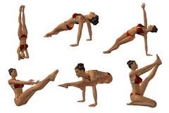 Sexy Joga stelt Stock Foto's