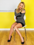 Sexy jonge bedrijfsvrouw stock foto