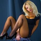 Sexy jonge blonde vrouw Royalty-vrije Stock Foto's