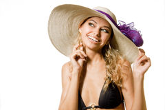 Sexy jonge blonde vrouw Royalty-vrije Stock Fotografie