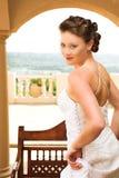 Sexy jonge donkerbruine bruid stock afbeelding